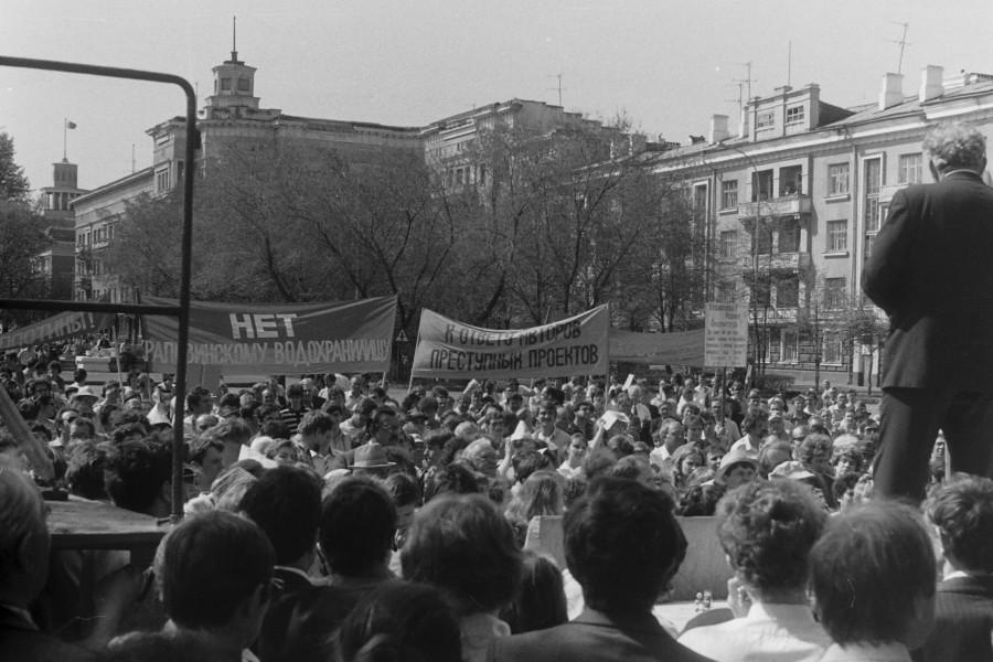 Митинг против строительство Крапивинского водохранилища