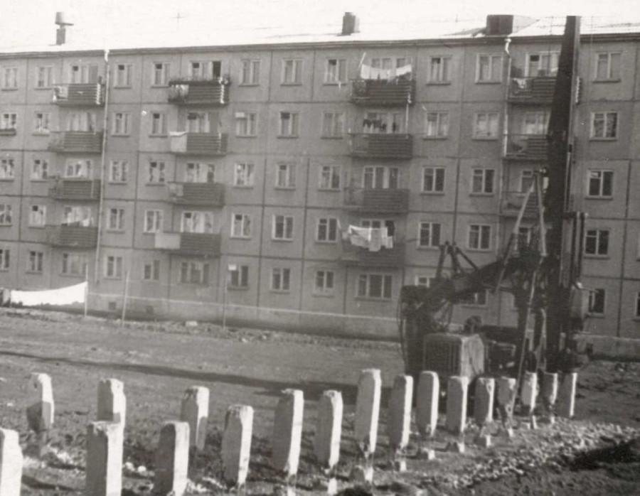 Дом радио (первые сваи ) 1965 г
